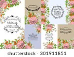 wedding invitation cards with... | Shutterstock .eps vector #301911851