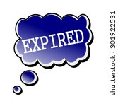 expired white stamp text on... | Shutterstock . vector #301922531