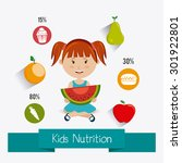 kids food design  vector... | Shutterstock .eps vector #301922801