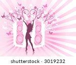 sexy disco diva   vector | Shutterstock .eps vector #3019232