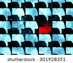 social network concept  rows of ... | Shutterstock . vector #301928351
