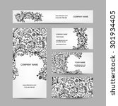 business cards collection ...   Shutterstock .eps vector #301934405