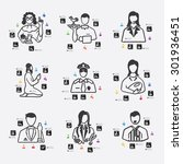 professions line infographic... | Shutterstock .eps vector #301936451