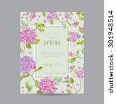 vintage floral frame   for... | Shutterstock .eps vector #301948514