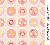 seamless decorative background... | Shutterstock .eps vector #301954994
