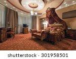 Stock photo interior of a luxury hotel room 301958501