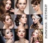 collection of wedding makeup.... | Shutterstock . vector #301958639