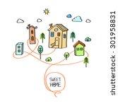 sweet home. vector abstract... | Shutterstock .eps vector #301958831