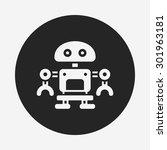robot icon | Shutterstock .eps vector #301963181