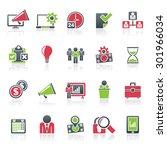 business management concept... | Shutterstock .eps vector #301966034