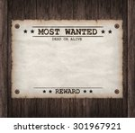 most wanted dead or live paper... | Shutterstock . vector #301967921