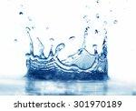 clean water splash on white...   Shutterstock . vector #301970189