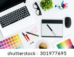 professional creative graphic... | Shutterstock . vector #301977695