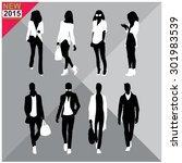 set of men and women black... | Shutterstock .eps vector #301983539