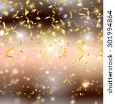 gold background with confetti... | Shutterstock .eps vector #301994864