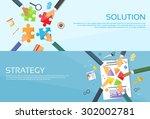 business people hands making...   Shutterstock .eps vector #302002781