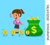 business concept cartoon a... | Shutterstock .eps vector #302014781