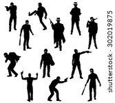 the set of robber  gangster... | Shutterstock .eps vector #302019875