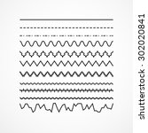 set of vector brushes. abstract ... | Shutterstock .eps vector #302020841