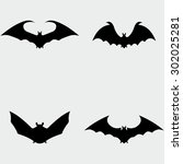 bat icons | Shutterstock .eps vector #302025281