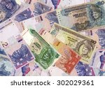 malaysia ringgit note background | Shutterstock . vector #302029361