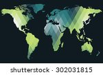 polygon map  elements of this... | Shutterstock .eps vector #302031815