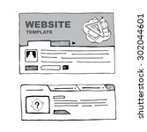 vector wireframe of web page...