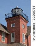 A small brick lighthouse at Sea Girt, NJ- portrait orientation