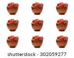 berry meats  summer berries... | Shutterstock . vector #302059277