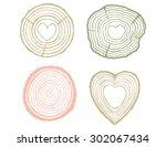 tree rings illustration set... | Shutterstock .eps vector #302067434