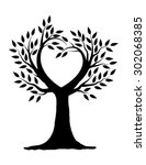 love tree illustration design... | Shutterstock .eps vector #302068385
