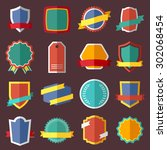 set of retro vintage labels ... | Shutterstock .eps vector #302068454