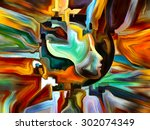 colors of the mind series.... | Shutterstock . vector #302074349