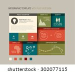 vector flat user interface  ui  ... | Shutterstock .eps vector #302077115