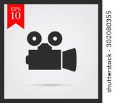 cinema camera icon | Shutterstock .eps vector #302080355