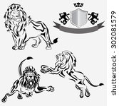 Vector Image.outline Of A Lion...
