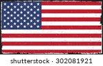 grunge usa flag.american flag... | Shutterstock .eps vector #302081921