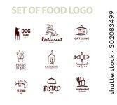 vector set of italian food...   Shutterstock .eps vector #302083499