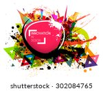 abstract innovative theme disco ... | Shutterstock .eps vector #302084765