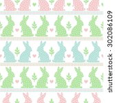 Cute Easter Pattern With Easte...