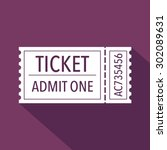 ticket icon. flat design.... | Shutterstock .eps vector #302089631