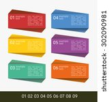 set of colorful plastic banners ... | Shutterstock .eps vector #302090981