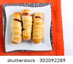 Sausages In Pastry As Hallowee...