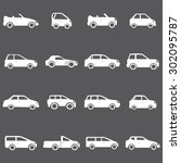cars icons set illustration | Shutterstock .eps vector #302095787