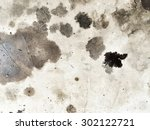 Dirty black oil on the floor texture background