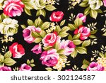 textured fabric  of rose... | Shutterstock . vector #302124587