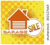 garage sale illustration over... | Shutterstock .eps vector #302127665
