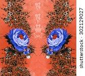fabric pattern | Shutterstock . vector #302129027