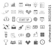 startup icon set. vector... | Shutterstock .eps vector #302133521