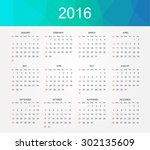 simple calendar 2016.abstract... | Shutterstock .eps vector #302135609